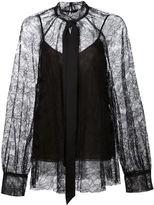 Vera Wang rose lace blouse - women - Polyester/Viscose - 0