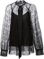 Vera Wang rose lace blouse - women - Polyester/Viscose - 4