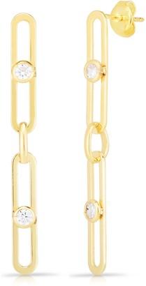 Sphera Milano 14K Gold Vermeil CZ Link Drop Earrings