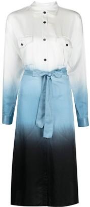 HUGO BOSS Ombre-Effect Shirt Dress