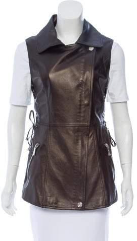 Dawn Levy Leather Longline Vest
