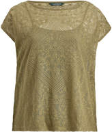 Ralph Lauren Embroidered Sheer Top