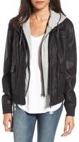 Blank NYC Women's Blanknyc Layered Faux Leather Flight Jacket