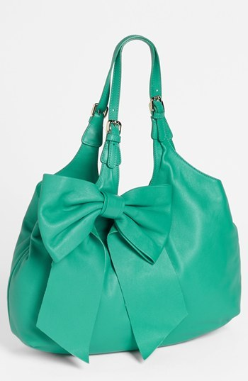 RED Valentino 'Bow' Leather Hobo