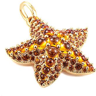 Pomellato Sirene 18K Rose Gold Citrine & Quartz Starfish Pendant