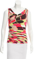 Emilio Pucci Abstract Print Short Sleeve Top w/ Tags