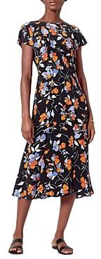 Joie Haben Peacock Floral Print Dress