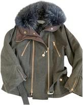 Sportmax Grey Wool Jacket for Women