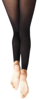 Capezio Big Girls Footless Tight with Self Knit Waist Band