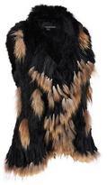 Wilsons Leather Womens Plus Size Tassle Fur Vest