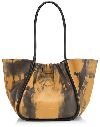 Proenza Schouler Large Ruched Tie-Dye Leather Tote