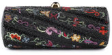 Judith Leiber Multicolor Floral Jeweled Minaudiere Evening Handbag