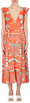 Marc Jacobs Women's Studded Floral-Print Crepe Wrap Gown