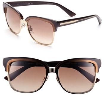 Gucci 55mm Retro Sunglasses