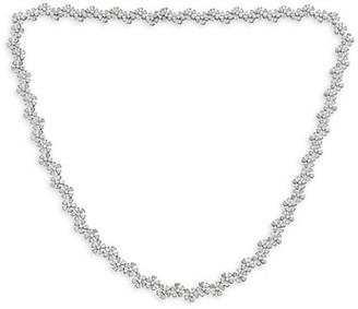 Zydo Luminal 18K White Gold & Diamond Flower Cluster Necklace