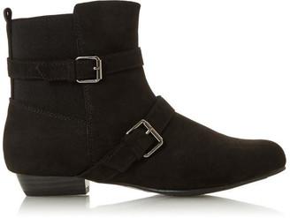 Head Over Heels Pamee Buckle Strap Detail Boots