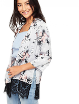 Miss Selfridge Print Jacquard Kimono Jacket, Multi