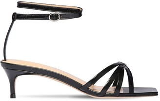 BY FAR 50mm Kaia Brushed Leather Sandals