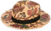 Etro floral print woven hat - women - Silk/Raffia - 57