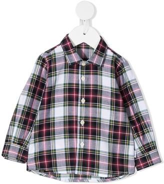Il Gufo Plaid-Print Long-Sleeved Shirt
