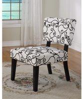 Linon Kathleen Black & White Print Accent Chair