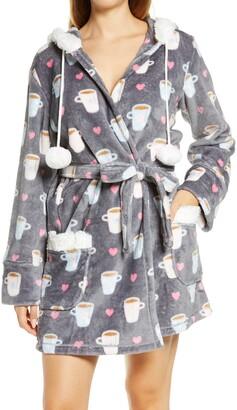 PJ Salvage Short Plush Hooded Robe