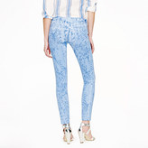 J.Crew Toothpick jean in garment-printed floral