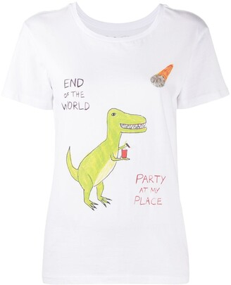 Unfortunate Portrait Dino-print cotton T-shirt
