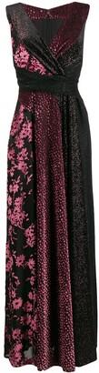 Talbot Runhof Velvet Jacquard Maxi Dress