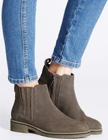 Marks and Spencer Suede Block Heel Crepe Sole Ankle Boots