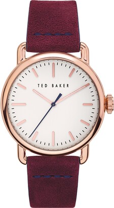 Ted Baker Tomcooa Leather Strap Watch, 40mm