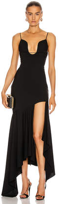 Thierry Mugler Asymmetrical Dress in Black | FWRD