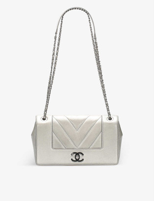 Resellfridges Pre-loved Chanel chevron-embroidered leather cross-body bag