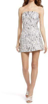 Alice + Olivia Matira Sequin Embellished Strapless Mini Dress