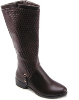 Brown Amber Woven Boot