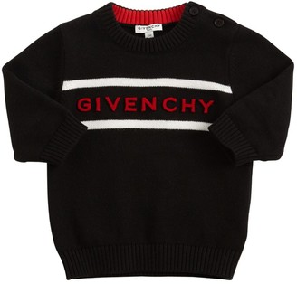 Givenchy Logo Cotton & Cashmere Knit Sweater