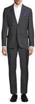 Ben Sherman Windowpane Notch Lapel Suit