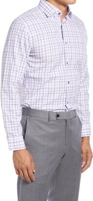 Nordstrom Trim Fit Plaid Non-Iron Dress Shirt