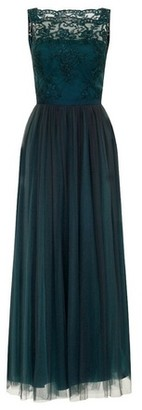 Dorothy Perkins Womens *Chi Chi London Green Embroidered Bodice Maxi Dress, Green