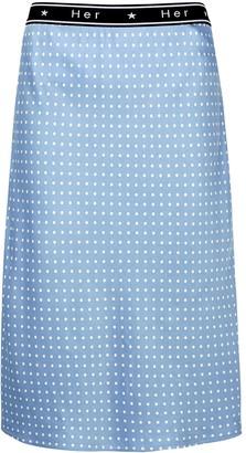 Birgitte Herskind Colette polka-dot satin midi skirt