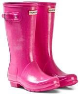 Hunter Glitter Fuschia Original Kids Boots