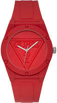 GUESS Unisex Iconic Logo Red Silicone Strap Watch 42mm
