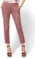 New York & Co. Soho Jeans - Painted Chino Boyfriend - Rose