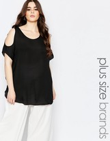 Koko Plus Blouse With Cold Shoulder
