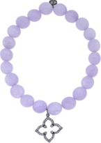 Sydney Evan Diamond Moroccan Star Lavender Amythest Beaded Bracelet