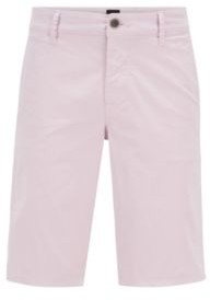 HUGO BOSS Slim-fit chino shorts in lightweight stretch-cotton twill
