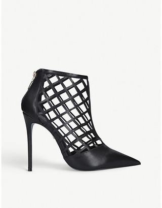 Carvela Graphic lattice suede boots