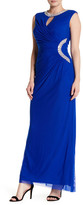 Marina Embellished Ruched Gown
