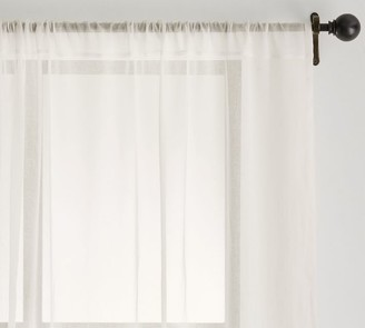 Pottery Barn Classic Voile Rod Pocket Sheer Curtain - Classic Ivory