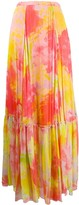 Pinko abstract pleated long skirt